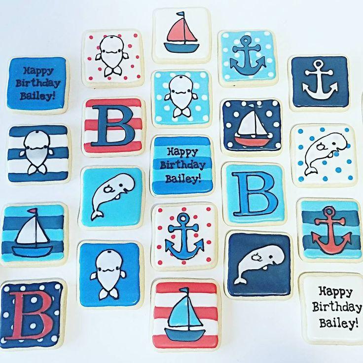 Bailey beluga birthday cookies