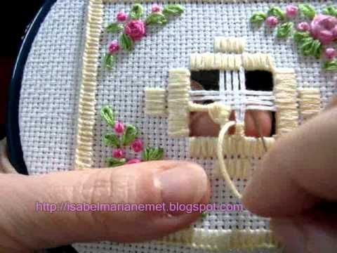 Learn How To Use a Spiders Web Filling Stitch - YouTube