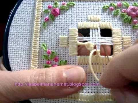 Hardanger - Drawn Thread cruz-griega.wmv