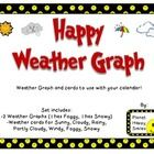 This is a Weather Graph set for use with the Calendar.  There are 2 Weather Graphs:  1 with Foggy, 1 with Snowy (choose which one fits your weather...