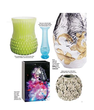 Sunday Express Magazine features Miriam Hanid's Transformation Vase on ,  October 28 2012. Find Miriam's vase on our website here: http://www.miratis.com/metal/transformation-vase.html