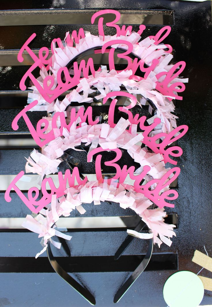 Avalon Palm Springs Bachelorette Party - Bracket Bridal Headbands