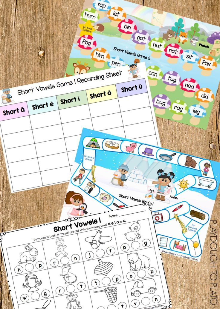 Activity for ages 5 to 7. These free CVC games and child-friendly worksheets help kids learn to identify short vowels and break words into individual sounds called phonemes. Grab your set of free CVC games below and get ready for some super cool reading fun. What's Inside? The free CVC games include: Board Games Each player …