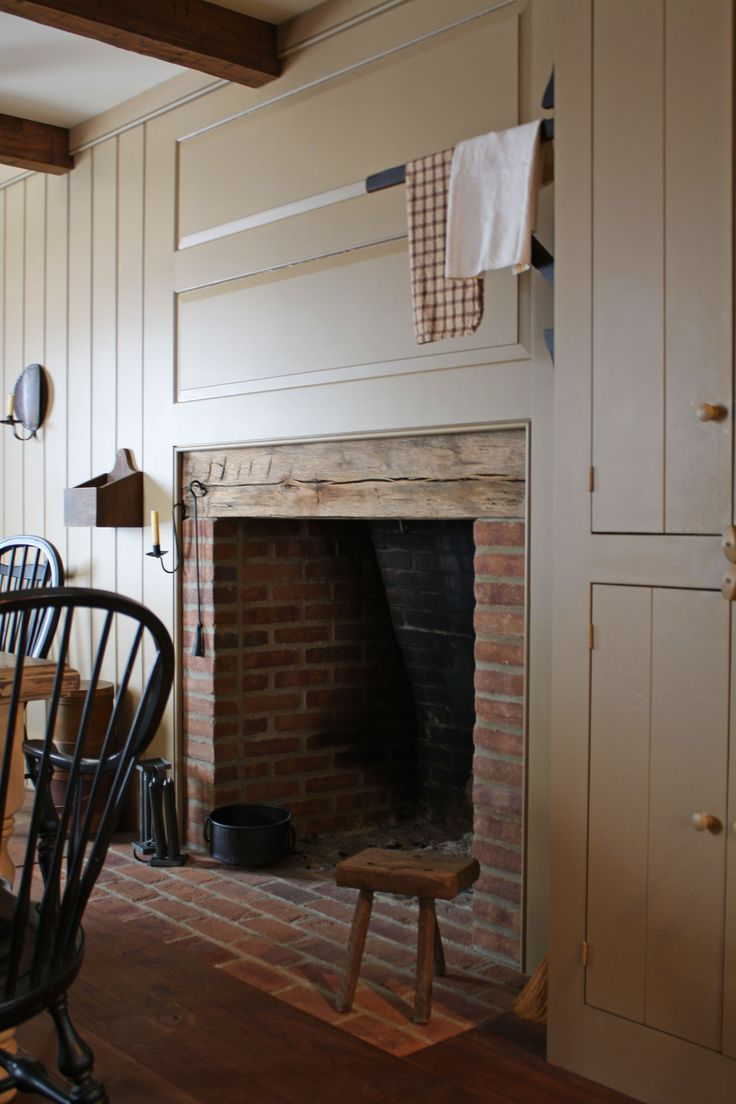Dining Room Fireplace In Home Of Phoebe Troyer
