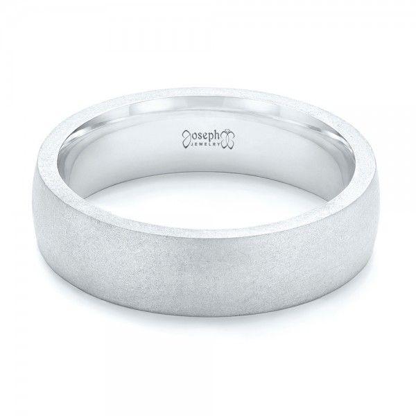 custom sandblasted mens wedding band joseph jewelry bellevue seattle online design