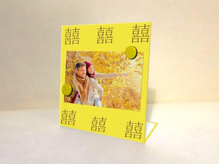 Portarretratos magnético modelo Feng Shui Amarillo www.facebook.com/malabaresdesign