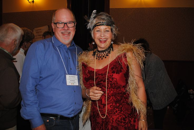 Heritage BC Board Member, Eric Pattison of Pattison Architects and Kathryn Molloy, Executive Director of Heritage BC at the conference Prospector's Dinner  CR: Lorri Dauncey