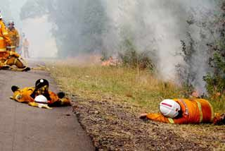Photo of exhausted firefighters goes viral