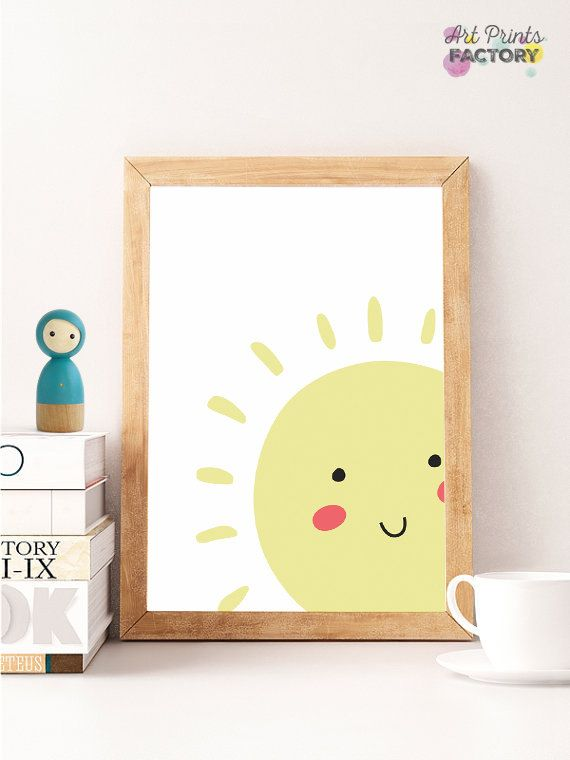Yellow Sun Printable Poster Smile Sun Print Kids Room Poster Cute Children Poster Nursery Poster Artprintsfactory File Downloadable Kids Room Poster Kids Poster Room Posters