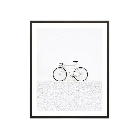 ART PRINT | framed 'push bike' by milk + sugar