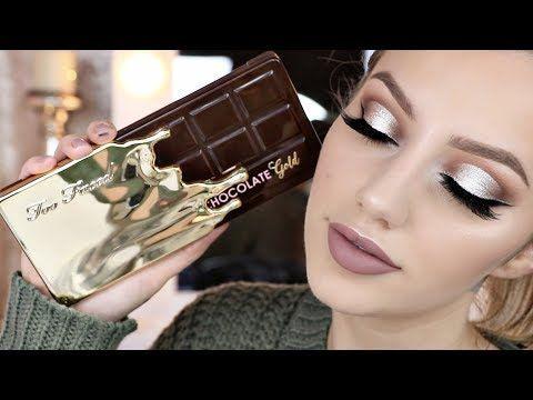 TOO FACED CHOCOLATE GOLD BAR PALETTE TUTORIAL | Jazzi Filipek - YouTube
