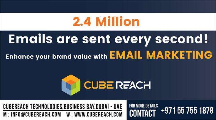 Enhance your brand value with Email Marketing  Why Wait? Call us NOW!  +971 55 755 1878 (Available on WhatsApp and call)   Available 24x7 (Feel free to call or text any time)   Cube Reach Technologies  www.cubereach.com   #emailmarketing #branding #leadgeneration #digitalmarketing #CubeReach