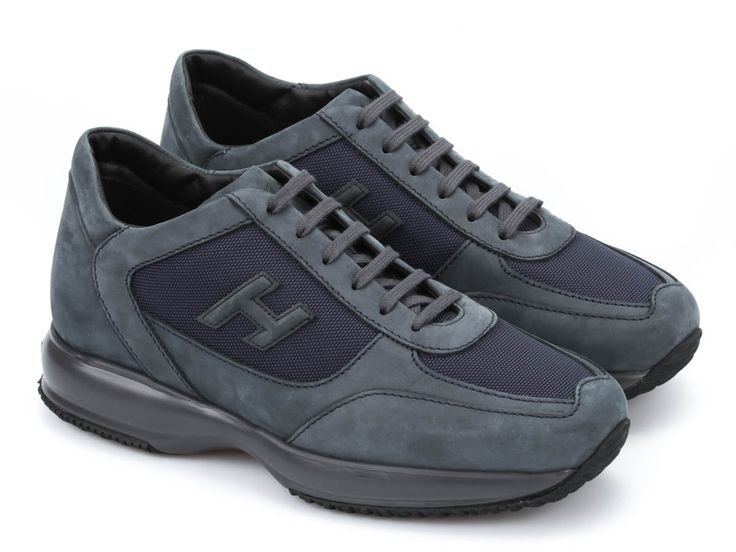 Hogan Interactive men's sneakers in blue suede leather - Italian Boutique €196