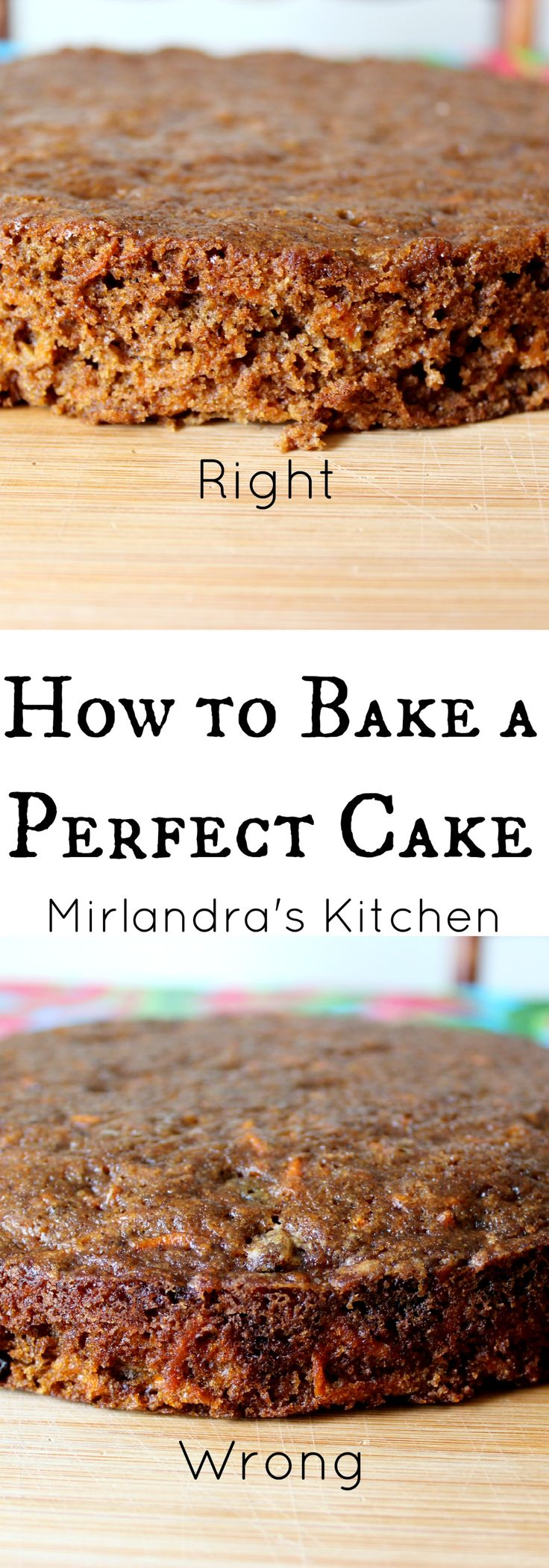 Follow these easy steps to bake a perfect cake that is moist and tender.  Your cake will rise flat every time and there is no special equipment required.