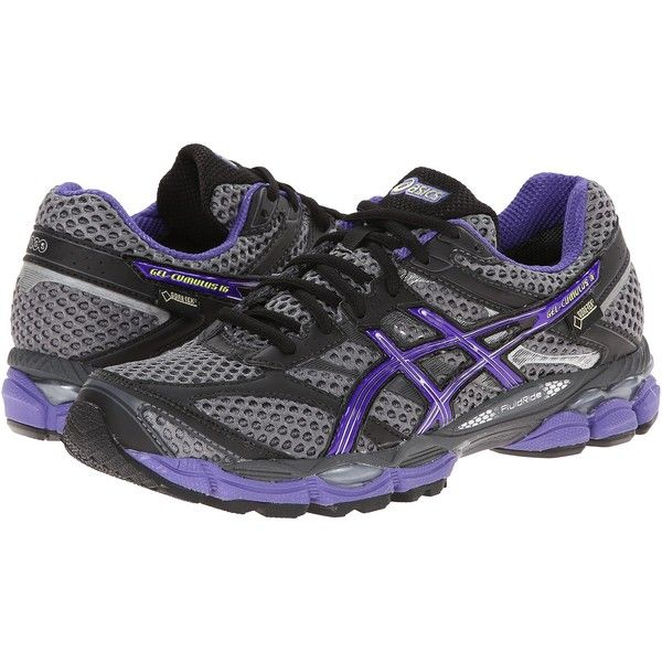 ASICS GEL-Cumulus 16 GTX Women's Running Shoes, Black (155 CAD) ❤ liked on Polyvore featuring shoes, athletic shoes, black, asics, athletic running shoes, running shoes, black shoes and structure shoes