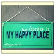 Happy Place Sign. Garden