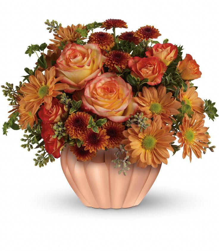Teleflora's Joyful Hearth Bouquet Thanksgiving flowers