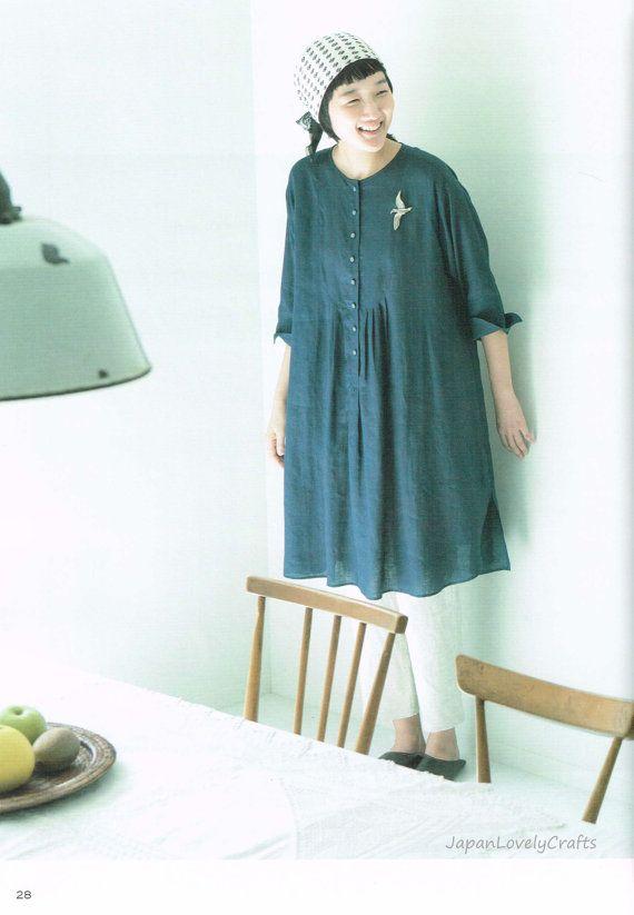 Japanese Style Clothing, Easy Sewing Pattern Book, Women Clothes, Cotton House Aya, Dress, Shirt, Tunic Blouse, Pants, Apron, Skirt, JapanLovelyCrafts