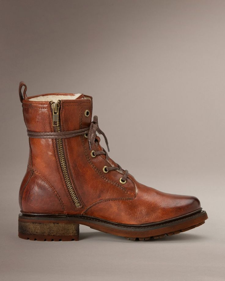Valerie Lace Up Shearling - Women_Boots_Work - The Frye Company