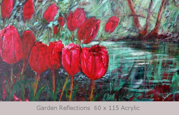 Garden Reflections 60 x 115 Acrylic