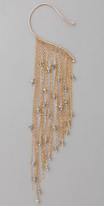 Jacquie Aiche ear cuff features labradorite beads