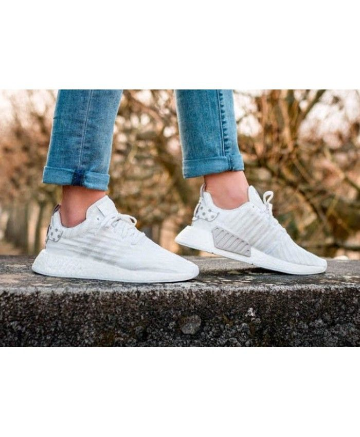 008d938f751 Cheap Adidas NMD R2 Trainers In Triple White Sale Clearance