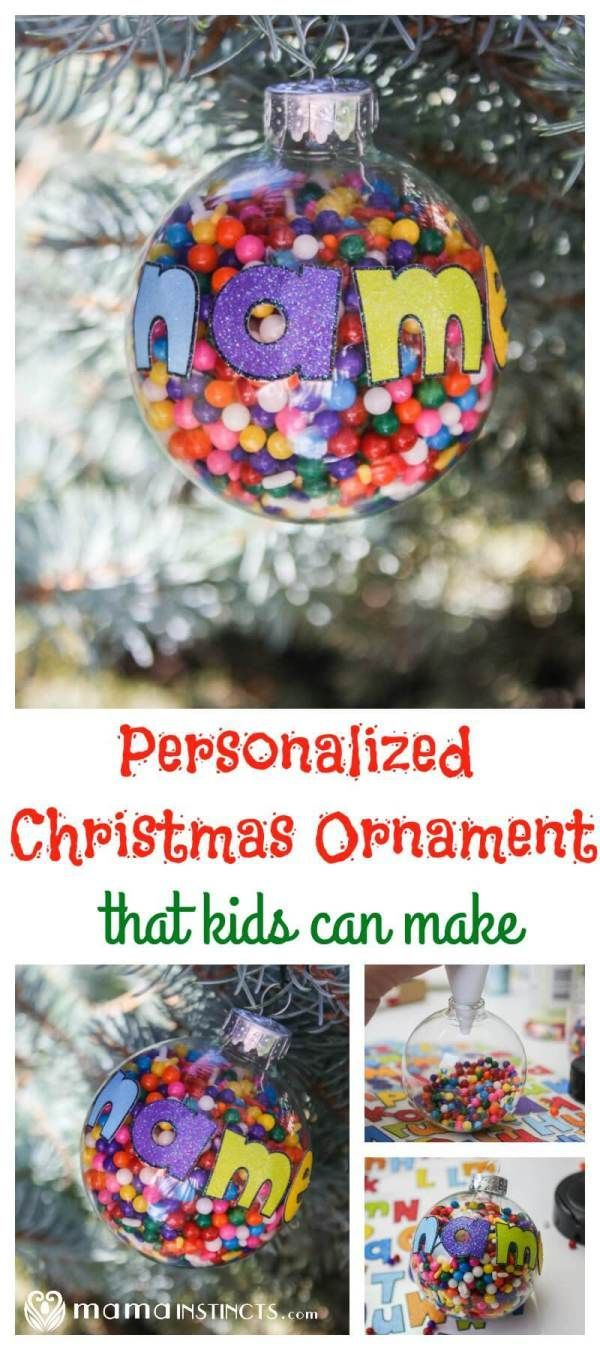 Personalized Christmas Ornament that Kids Can Make | Recipe ...