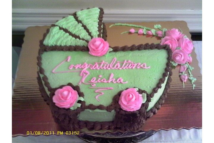 Cake From Publix For Southern Belle Tea Party...Colors Are The Party Theme  And Nursery Colors. I Usually Try And Keep The Color Theme Consistent Fu2026