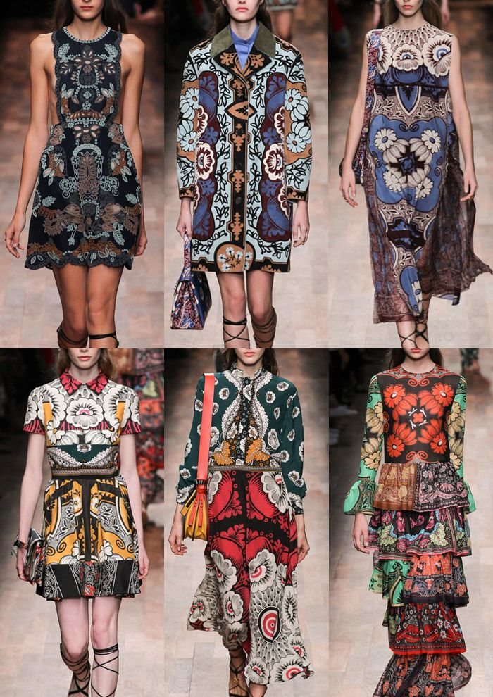 Paris Womenswear Print Highlights Part 2 – Spring/Summer 2015 catwalks  - Valentino: