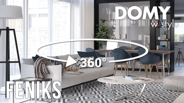 Panorama wnętrz w projekcie Feniks. Pełna prezentacja projektu dostępna jest na stronie: www.domywstylu.pl.... #projekty #projekt #projektdomu #projektygotowe #architektura #dom #domparterowy #architecture #design #homedesign #house #home #wnetrza #insides #interiors #video #film #feniks #domywstylu #mtmstyl