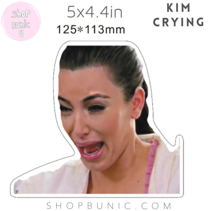 Image of Kim Kardashian Crying • Sticker