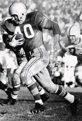 "My dad took me to my first Ohio State football game when I was 7.  Wisconsin with Alan ""The Horse"" Ameche v Ohio State with Howard ""Hopalong"" Cassady; both teams ranked in the top ten in the country."