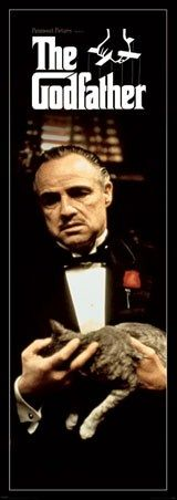 Mob Boss Vito Corleone with Cat - The Godfather