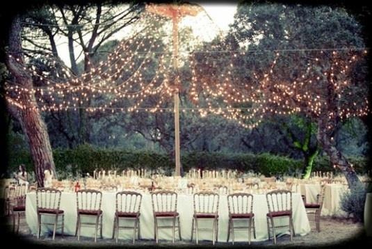 String Lighting outdoors