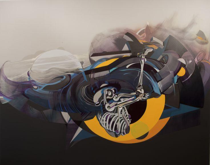 200x155 cm acryl and oil on canvas