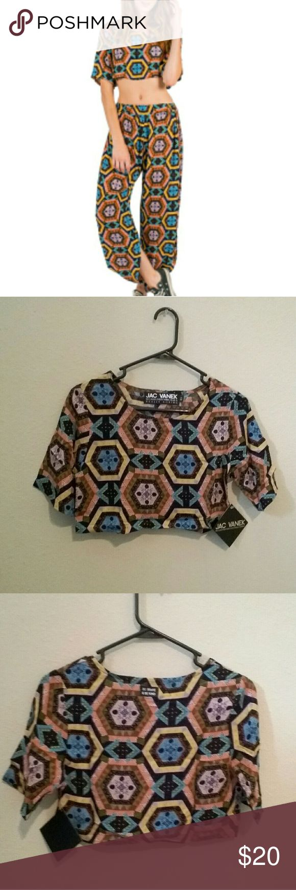 FLASH SALE! NWT Kaleidoscope Crop Top RARE New with tags crop top. Super cute. True to size. TOP ONLY. You won't find this anywhere but Poshmark! Jac Vanek Tops Crop Tops