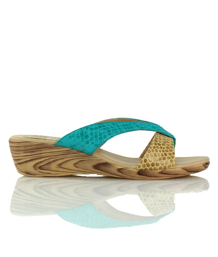 Blue Lagoon - Playful wedge sandal from our Cocktails on the Beach range