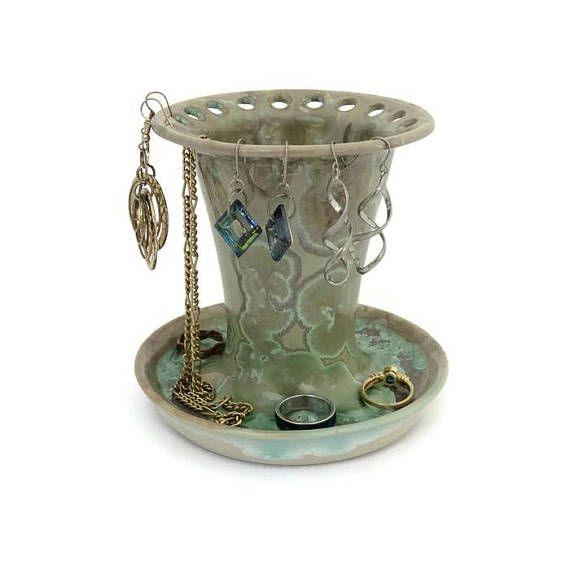Jewellery Ceramic Holder for Rings Necklaces and Earrings