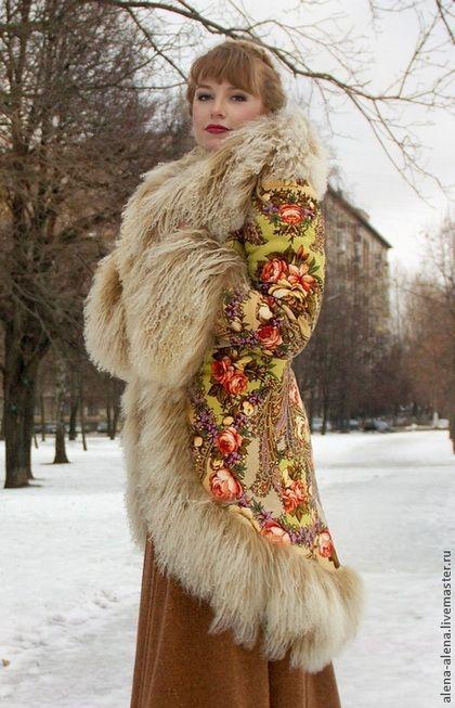 """Верхняя одежда ручной работы. Зимнее пальто """"Машенька и медведи"""".. Алёна. Ярмарка Мастеров. Натуральный мех, пальто с мехом"""
