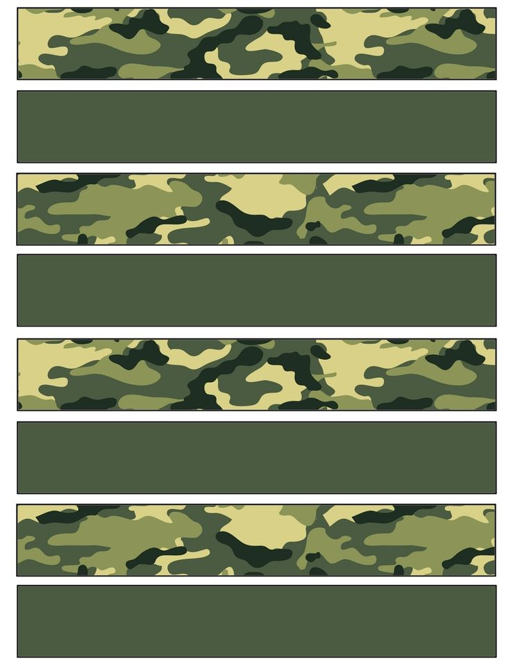 Camo paper strip for creating paper chains for your next Military themed party .... free to use <3