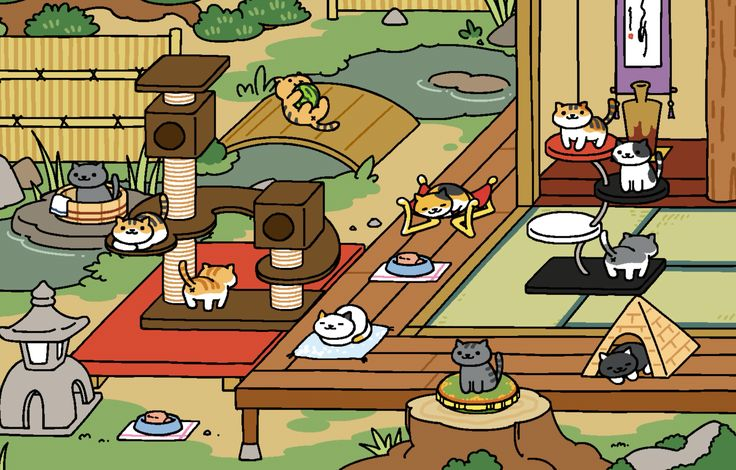 Fun time in theZen Garden... Neko atsume, Rare cats, Kitty