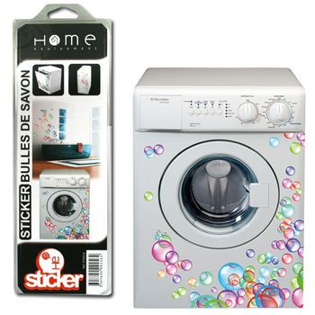 sticker lave linge mod le bulles de couleur in 2019 laundry room washer dryer washer