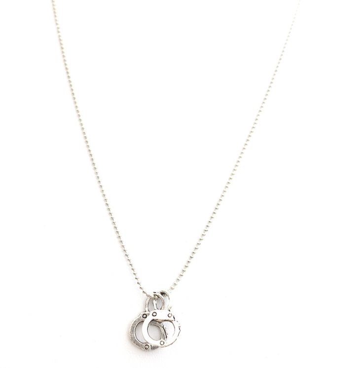 LiLy Bay — Handcuffs white gold plated necklace