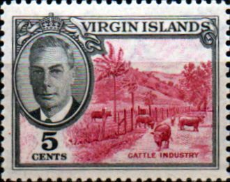 British Virgin Islands Stamps 1952 King George VI Sheep SG 140 Fine Used Scott…