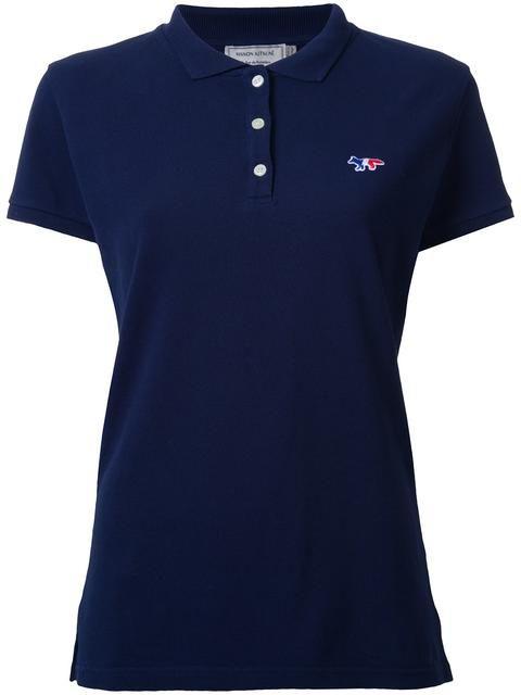 MAISON KITSUNÉ Poloshirt Mit Logostickerei. #maisonkitsuné #cloth #logostickerei