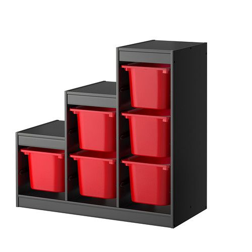 ikea trofast storage combination with boxes a playful and sturdy storage series for. Black Bedroom Furniture Sets. Home Design Ideas