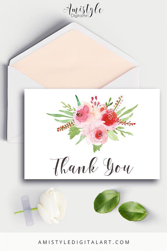 Thank You Card Printable cards Thank You Wedding