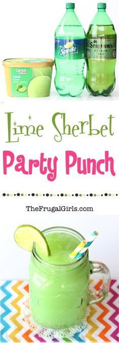 Lime Sherbet Party Punch Recipe! ~ from http://TheFrugalGirls.com ~ the perfect punch for your next Birthday Party, Baby Shower, or Green themed celebration! #punches #recipes #thefrugalgirls