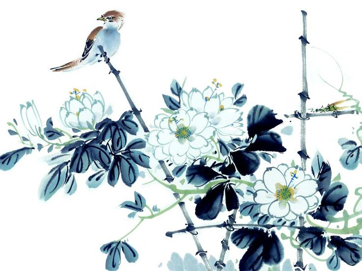 flower and birds painting