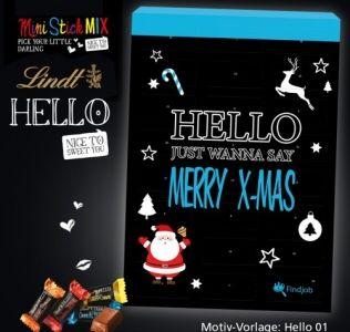 Promotional advent calendar Lindt Hello Christmas Chocolate Advent Calendar with twenty four windows
